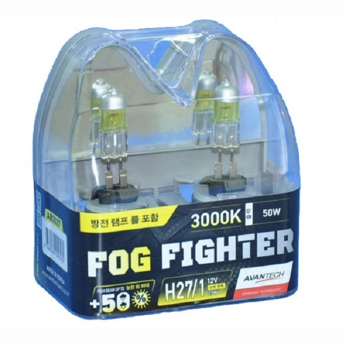 Лампа высокотемпературная Avantech H27/1 12V 27W (50W) 3000K, комплект 2 шт.