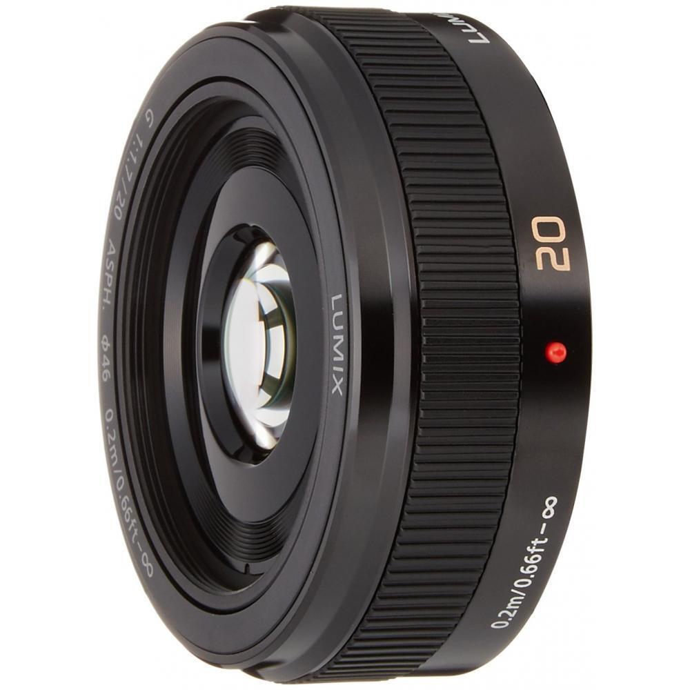 Panasonic monofocal lens Micro Four Thirds for LUMIX G 20mm / F1.7 II ASPH. Black H-H020A-K