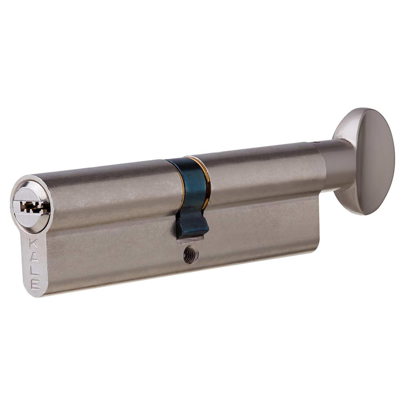 Цилиндр 164SM-100-C-NI, 45х45 мм, ключ/вертушка, цвет никель
