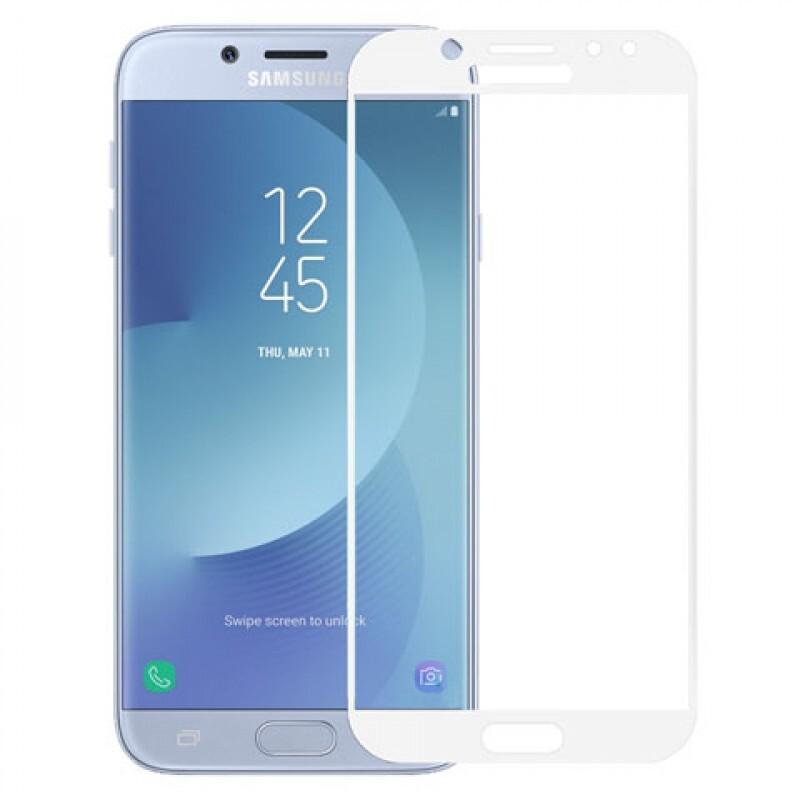 Защитное стекло для Samsung Galaxy J7 2017 белое