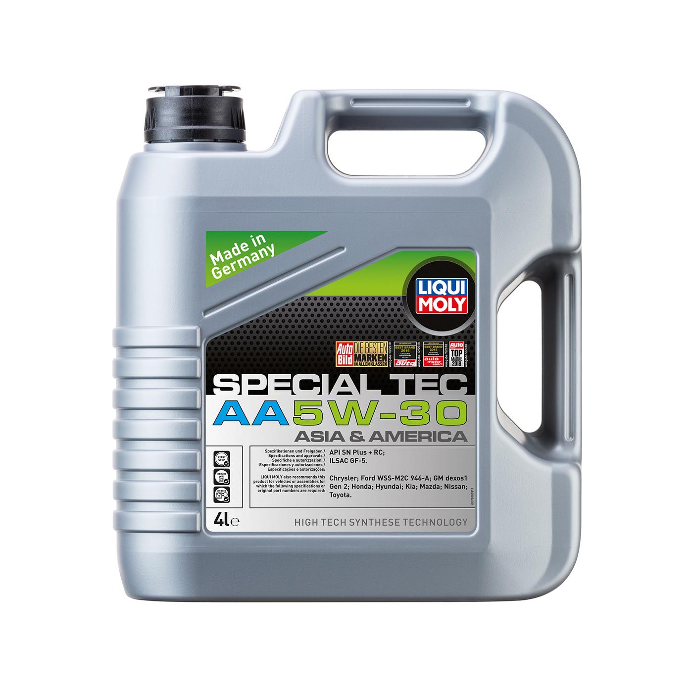 Моторное масло НС-синтетическое Liqui Moly Special Tec AA 5W-30 SN GF-5 (4л) 7516