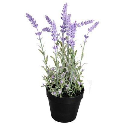 Растение искусственное Лаванда фиолетовая в кашпо D17 L37-19962