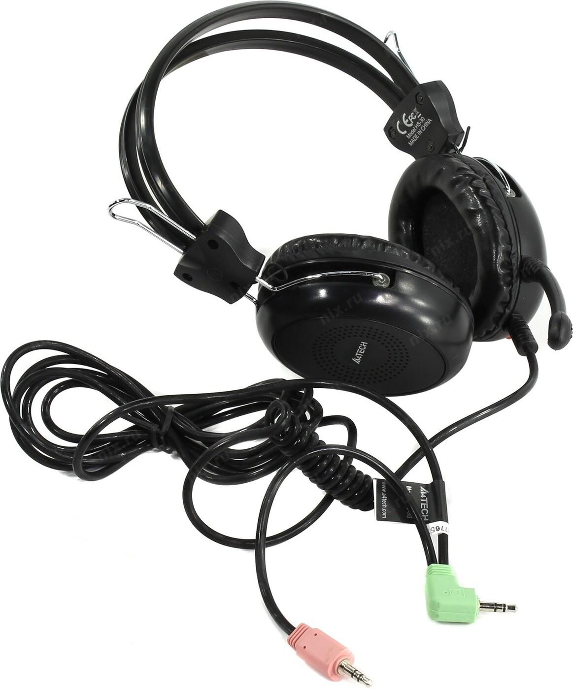 Компьютерная гарнитура A4Tech HS-30,черный