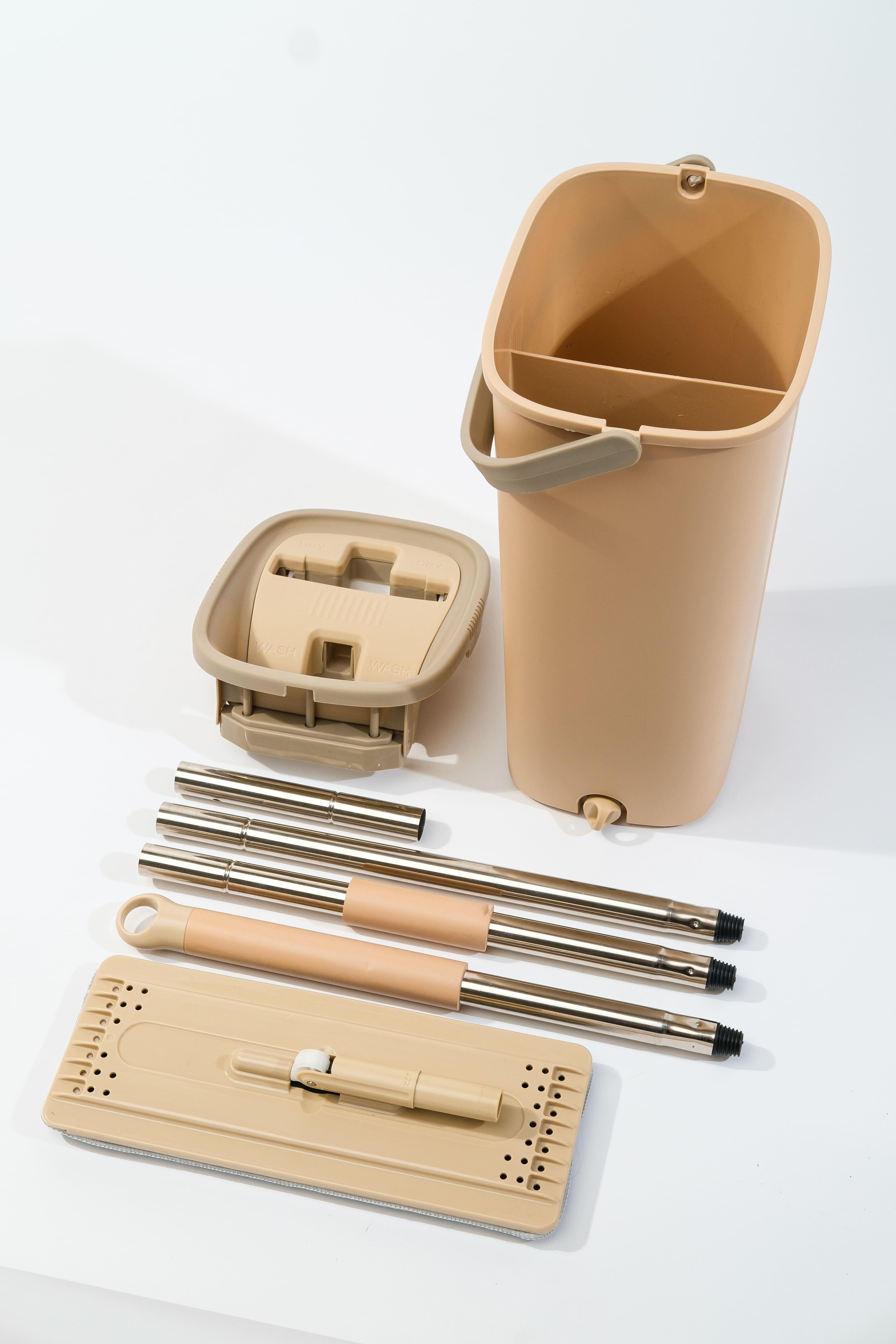 Комплект для уборки со шваброй и ведром VERDE, длина 130 см