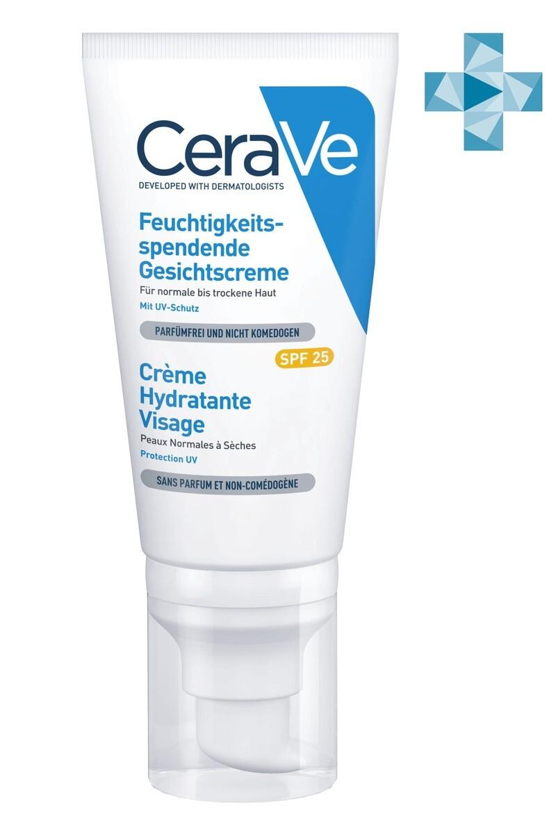 CeraVe Лосьон для лица увлажняющий, для нормальной и сухой кожи, SPF 25, 52 мл  #1