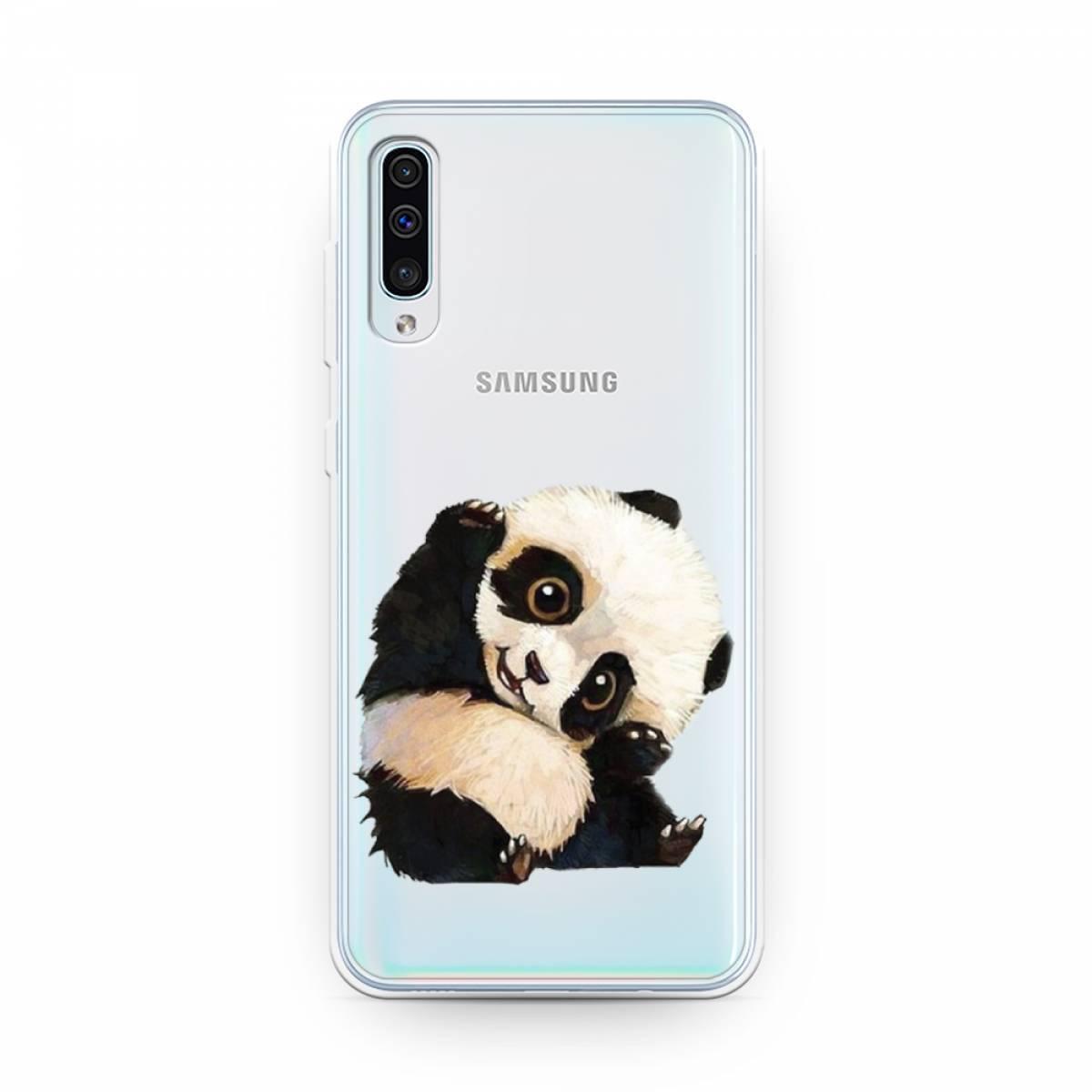 Силиконовый чехол Большеглазая панда на Samsung Galaxy A50 #1