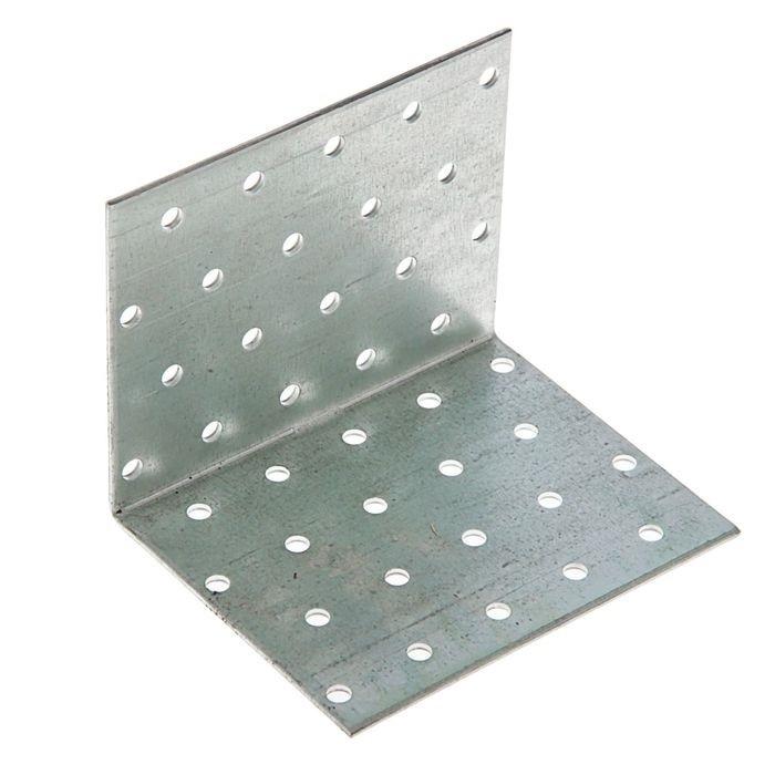Уголок крепежный равносторонний 100х60х60 мм KUR белый цинк STARFIX ( 4 шт.)  #1