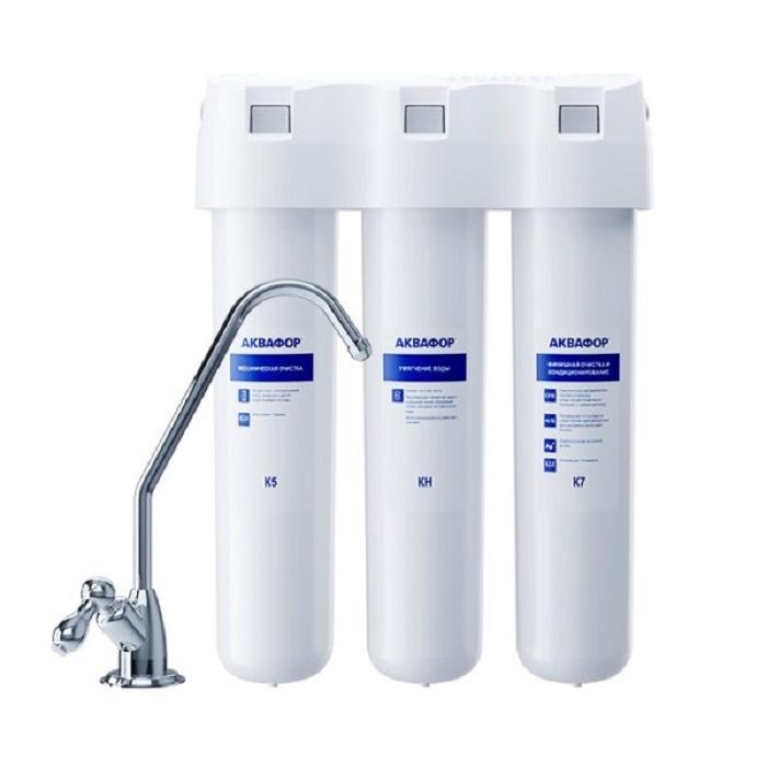 Умягчающий проточный фильтр Аквафор Кристалл А для жесткой воды  #1