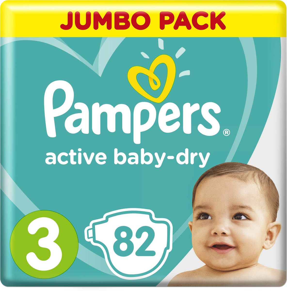 Pampers Подгузники Active Baby-Dry 6-10 кг (размер 3) 82 шт #1