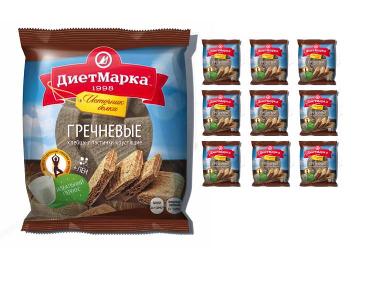 Мини-хлебцы гречневые со льном ДиетМарка, 50г х 10 шт #1