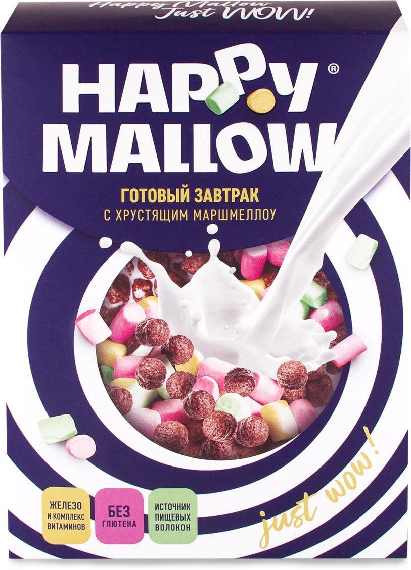 Готовый завтрак Happy Mallow, с маршмеллоу 240 г, без глютена #1