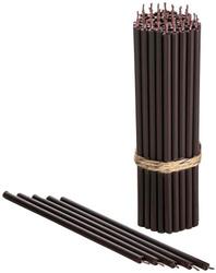 Свечи коричневые 35мин 160х5.5 42шт №120. Коричневые свечи