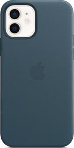 Чехол-накладка Apple Leather Case with MagSafe для iPhone 12/iPhone 12 Pro (MHKE3ZE/A), синий, кожа. Вместе дешевле!