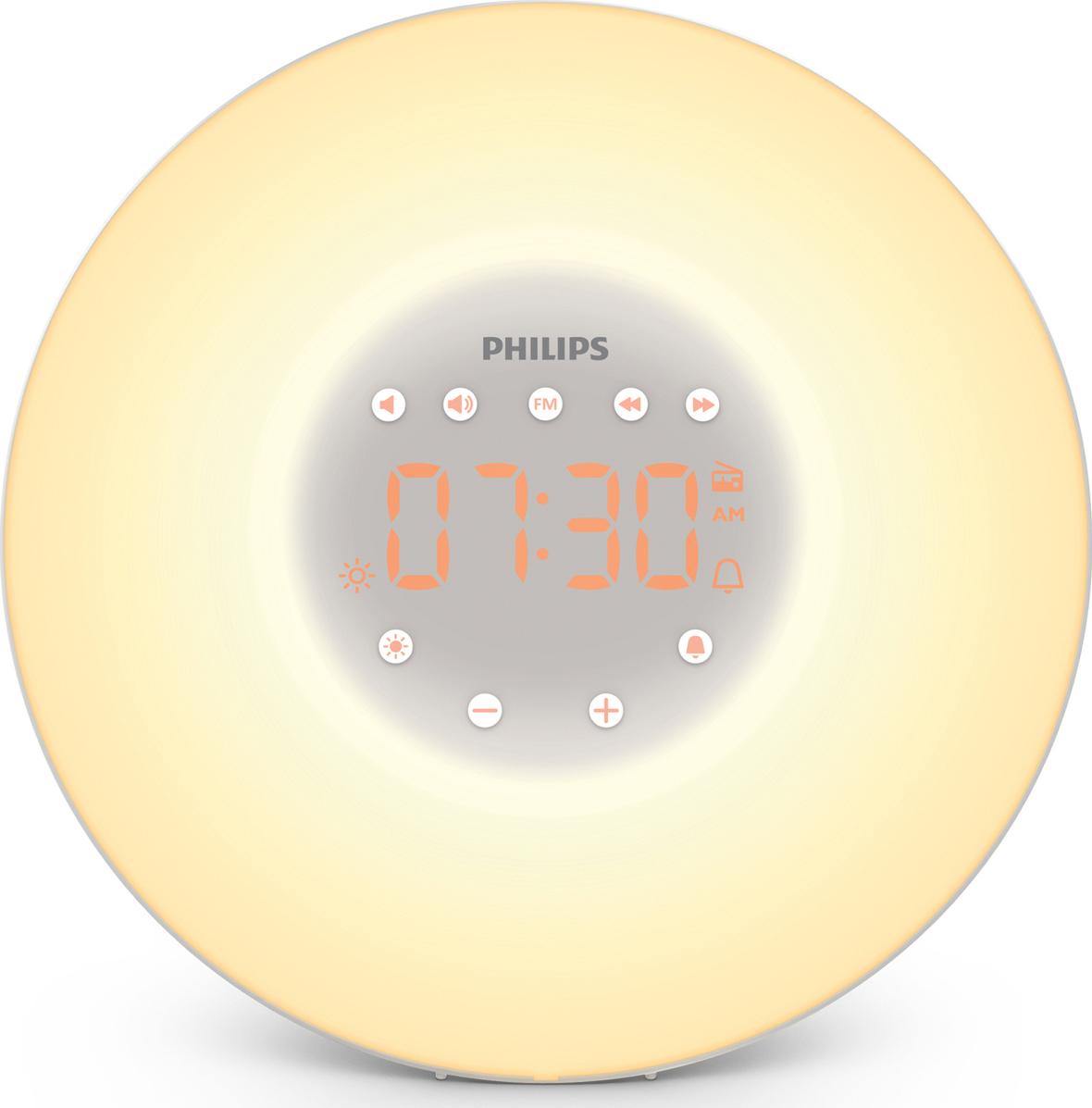 Радио-будильник Philips philips hf3520 70 wake up light световой будильник