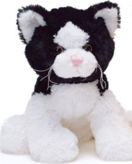 Мягкая игрушка Teddykompaniet Котенок, черный, белый, 23 см