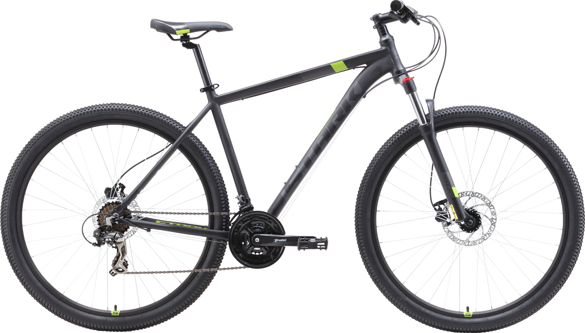 Велосипед STARK Hunter 29.2 HD 2019 18 чёрный/серый/зелёный