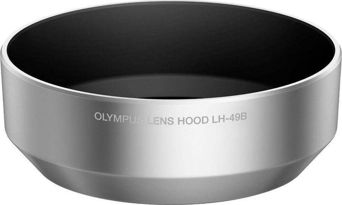 LH-49B Lens Hood for M.ZUIKO DIGITAL 25mm 1:1.8 silver