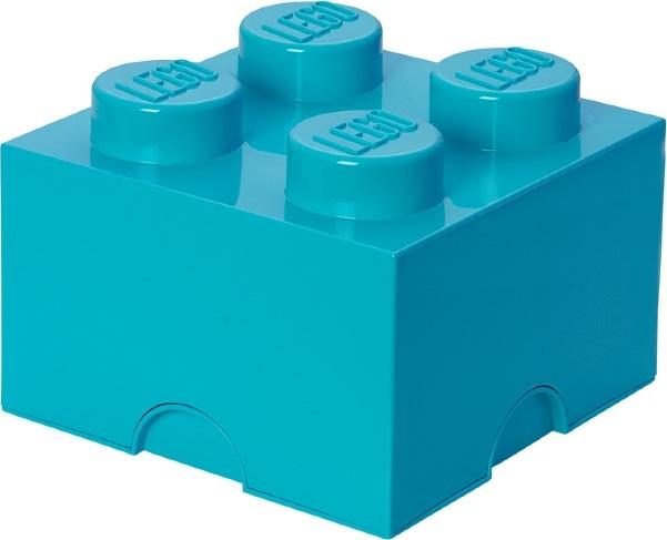 Ящик для хранения 4 LEGO бирюзовый