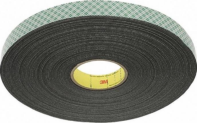 Клейкая лента двухсторонняя 3M 5мм x 50м (Черная) клейкая лента golden snail двухсторонняя 15mm x 5m gs 8006