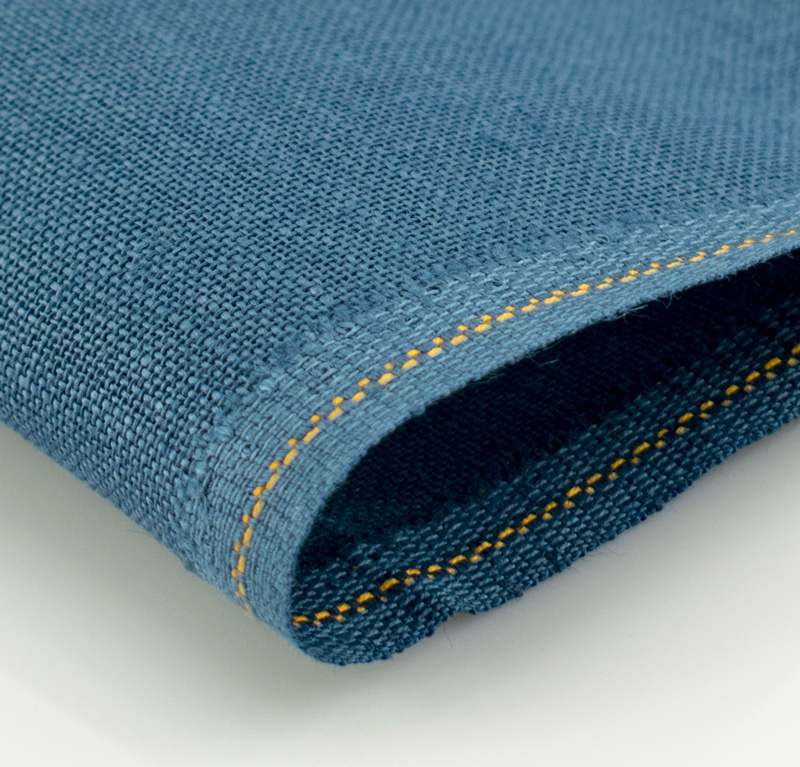 Канва Zweigart Belfast 32ct. (цвет: 578 голубая ель, 100% лен, 35х50 см.)
