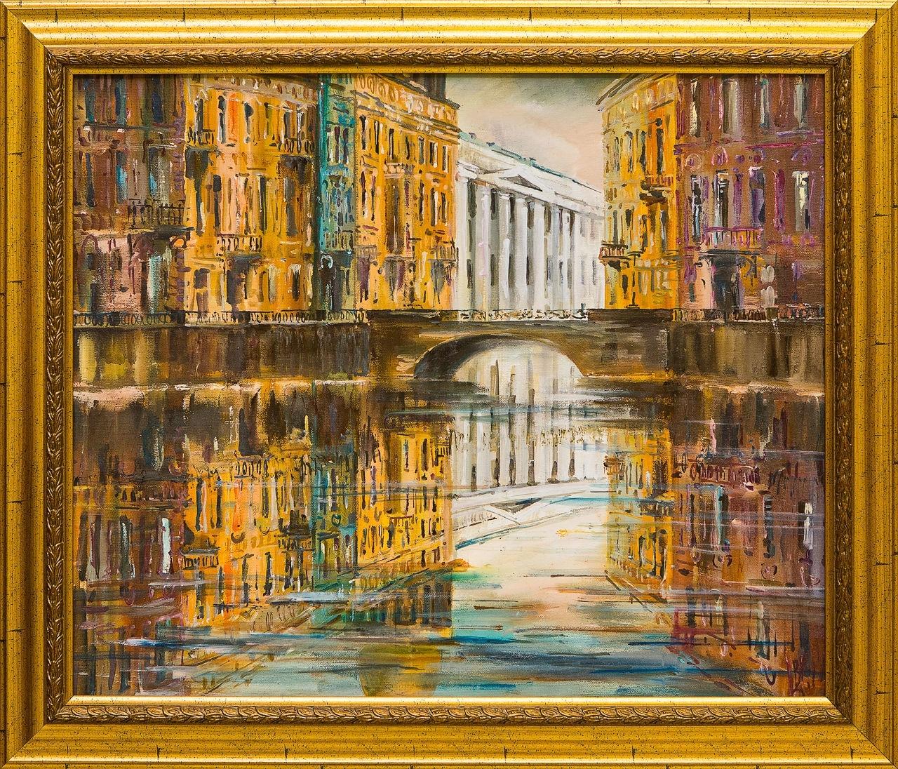 Картина маслом Вода Шеренкова картина маслом шумный город шеренкова