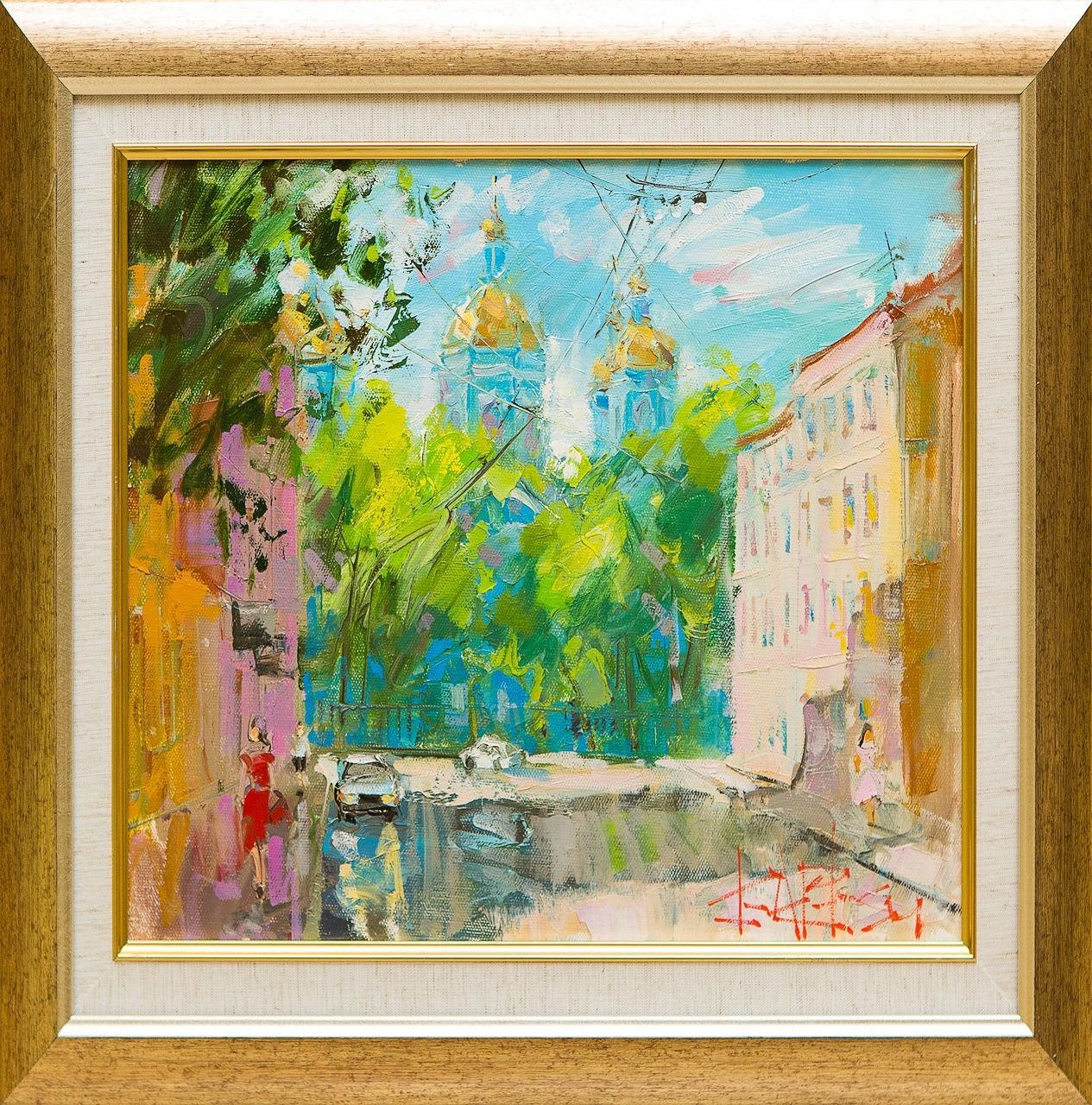 Картина маслом Никольский собор Сухоплюев картина маслом владимирский собор боем
