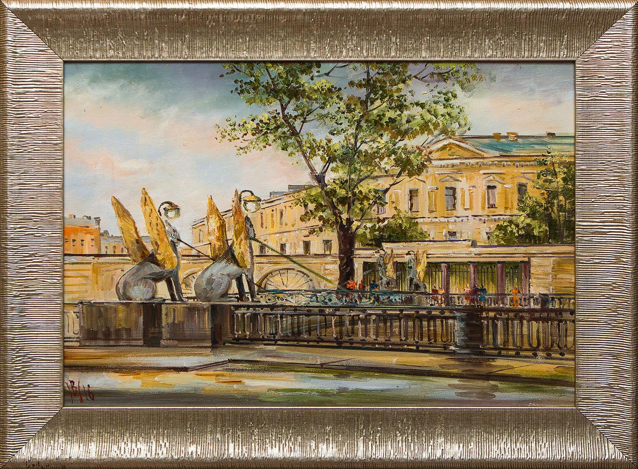 Картина маслом ФИНЭК Шеренкова картина маслом шумный город шеренкова