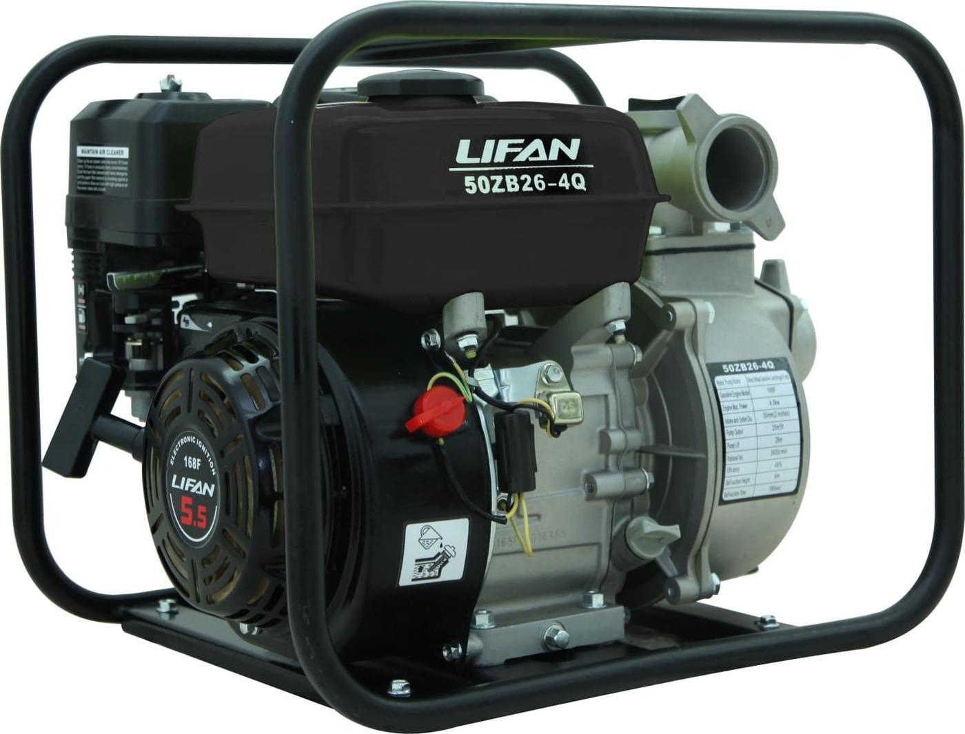 Мотопомпа бензиновая LIFAN 50ZB26-4Q виброплита vektor vpg 50b lifan л с 2 6 kh 12 40 см сек