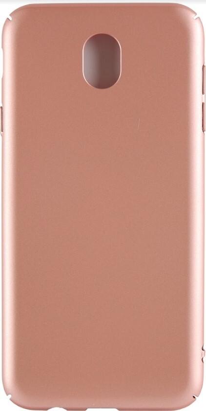 Защитный силиконовый чехол TFN для Samsung Galaxy J7 2017 Hard Case, розовое золото