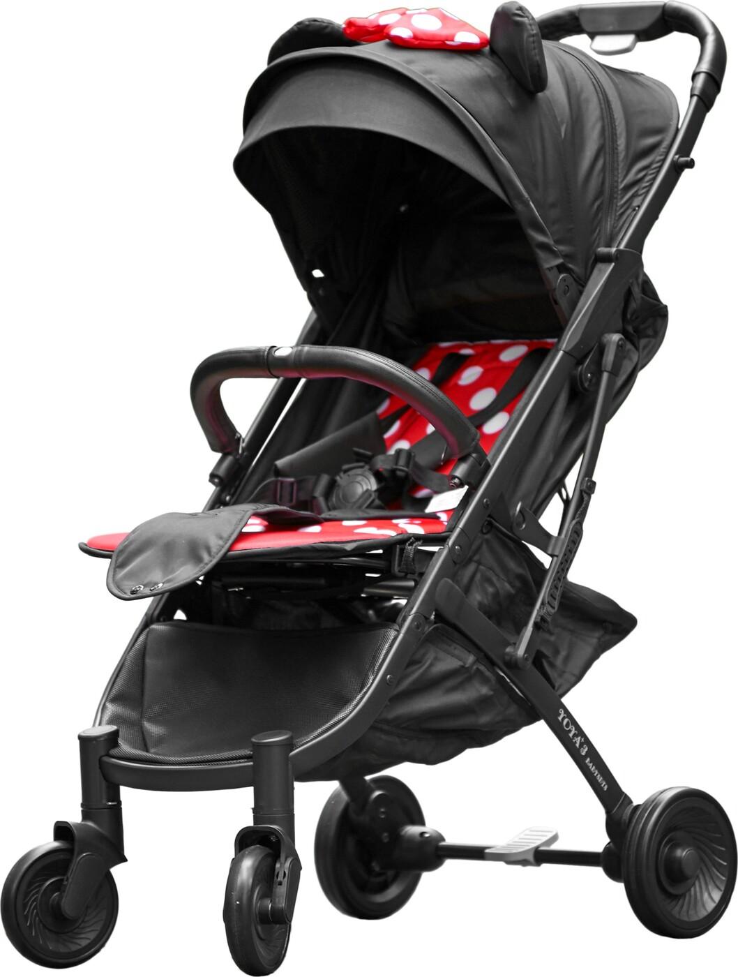 Детская коляска YOYA PLUS 3 Exclusive Минни черная рама