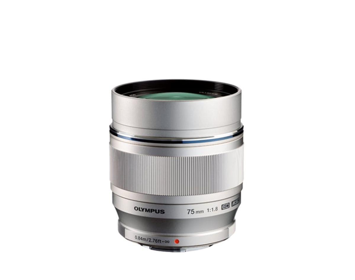 Объектив Olympus M.Zuiko Digital ED 75mm F1.8, серебристый
