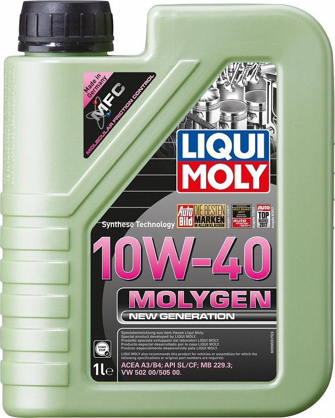 LIQUI MOLY Масло моторное Molygen New Generation 10W-40  1L