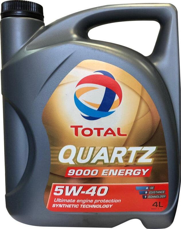 Моторное масло TOTAL QUARTZ 9000 ENERGY 5W-40 4 л