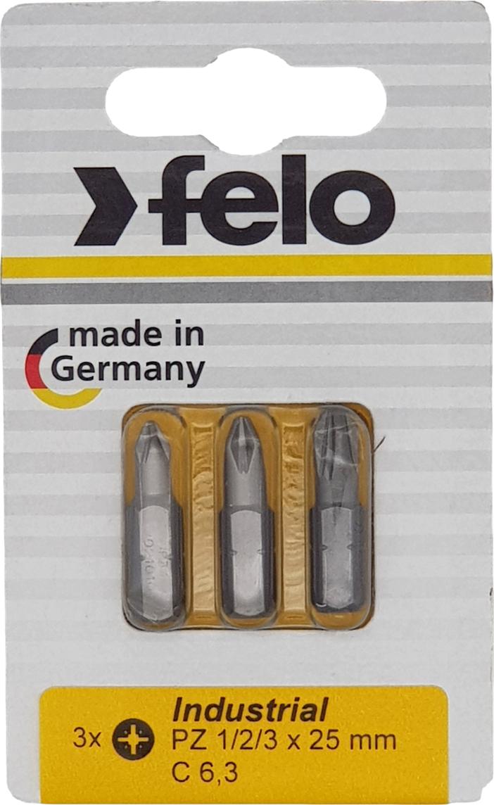 Бита для инструмента Felo, крестовая PZ 1/PZ 2/PZ 3х25 мм, FEL-02193216, 3 шт