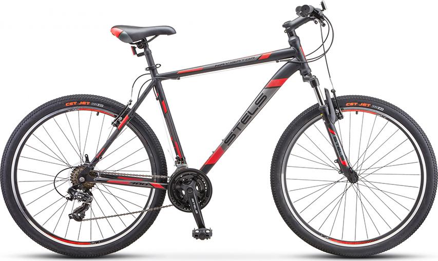 Велосипед Stels Navigator 700 V V020 Черный/красный 27.5 (LU093447), 19'