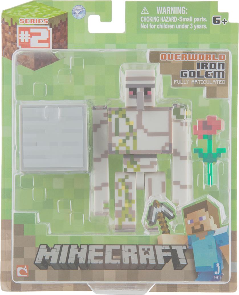 Фигурка Minecraft Iron Golem Железный голем с аксессуарами 8см