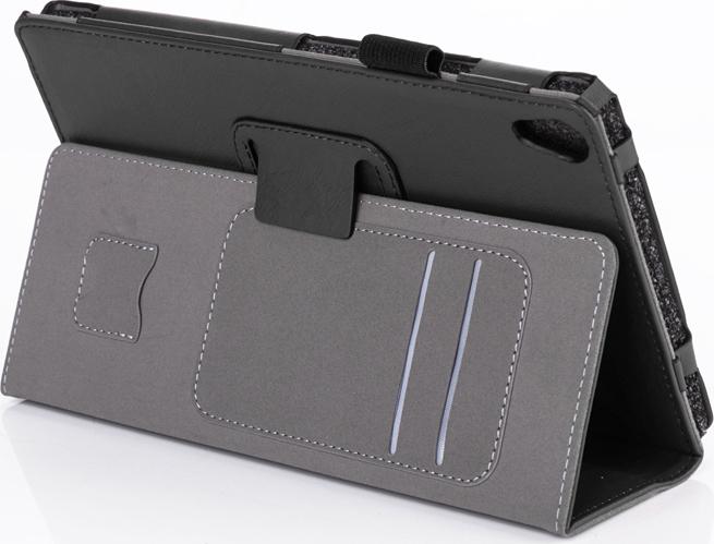 Чехол-обложка MyPads для Asus ZenPad C 7.0 Z170CZ170CGZ170MG из высококачественного материала с визитницей и держателем руки и трансформацией в подставку черный
