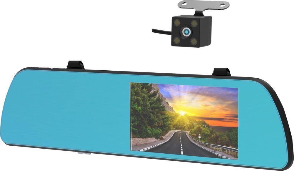 Видеорегистратор-зеркало Ritmix AVR-550 Mirror, серебристый