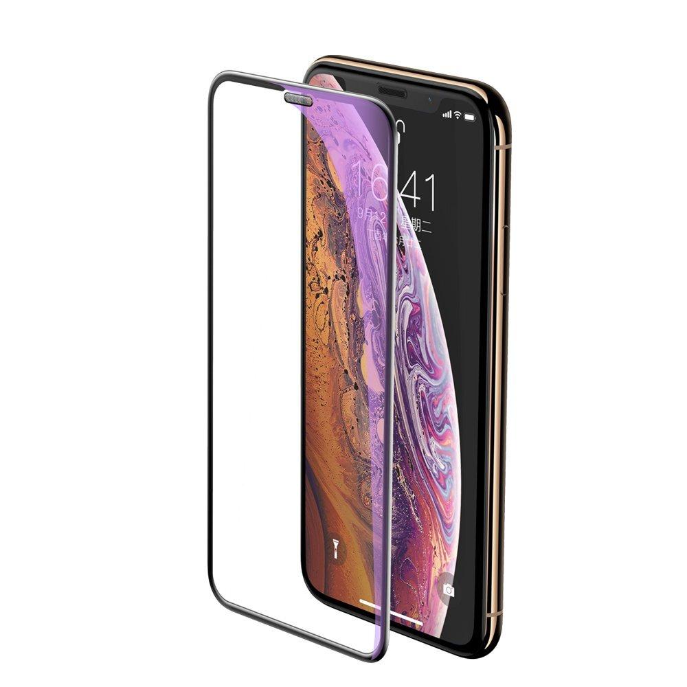Защитное стекло Baseus 0.3mm full-screen curved anti-blue light tempered glass screen protector (cellular dust prevention) для iPhone XS Max 6.5inch Black