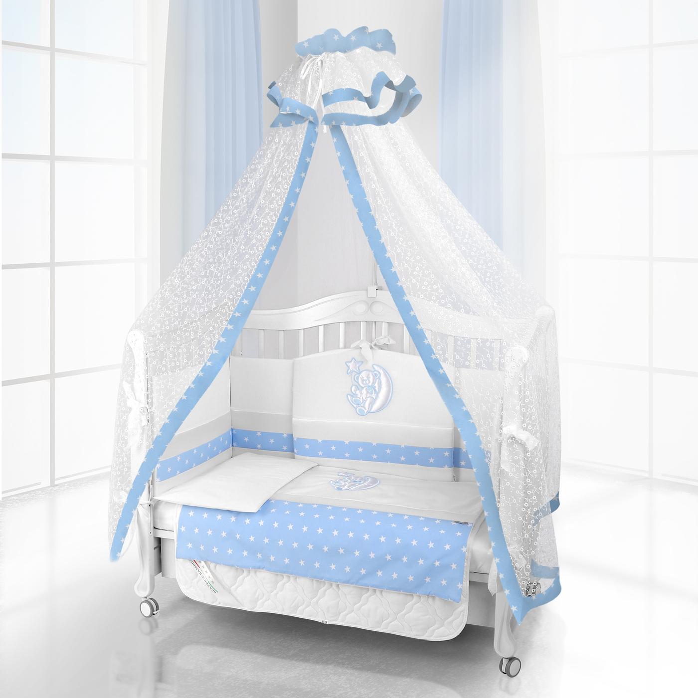 Комплект постельного белья Beatrice Bambini Unico Stella (125х65) - bianco& blu