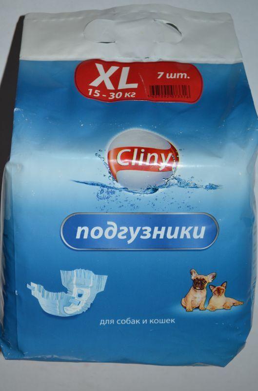 Подгузники для собак и кошек 15-30 кг размер XL 7 шт., Cliny K205, 213гр