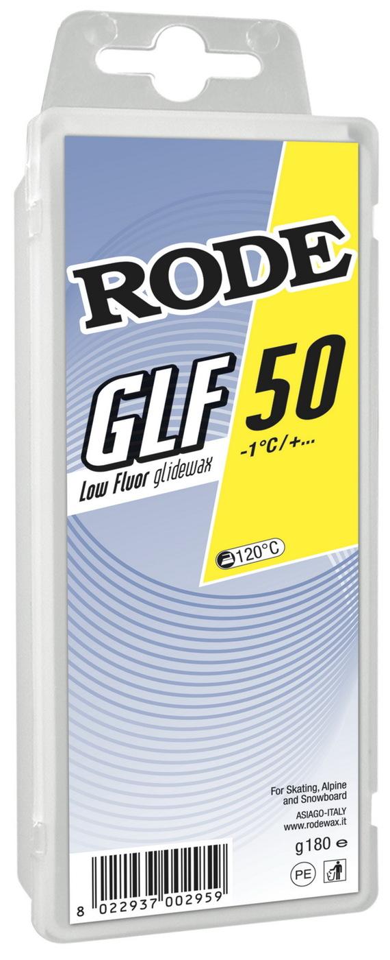 Низкофторовый парафин Rode GLF-50 Yellow, -1°C/+…, GLF50-180, желтый, 180 г