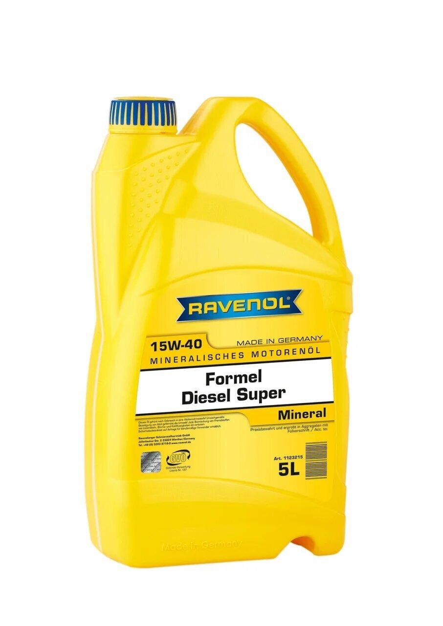 Моторное масло RAVENOL Formel Super Diesel SAE 15W-40 ( 5л)