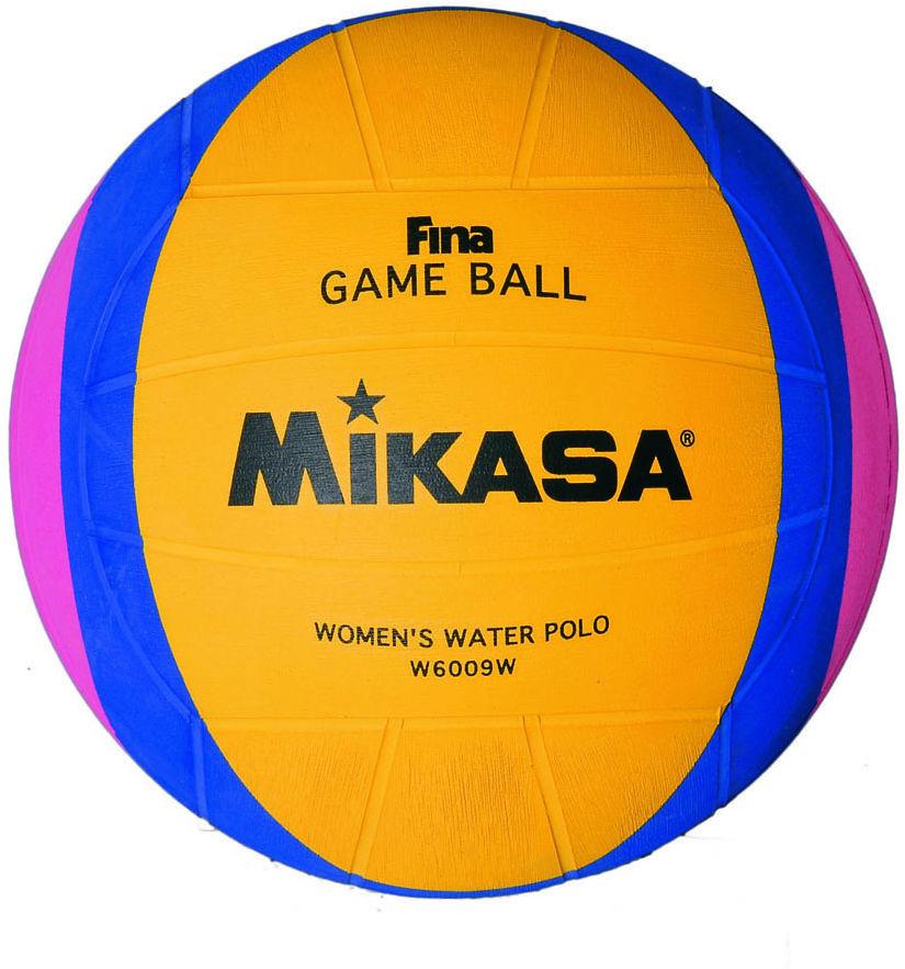 Мяч для водного поло Mikasa W 6009 W, розовый, синий