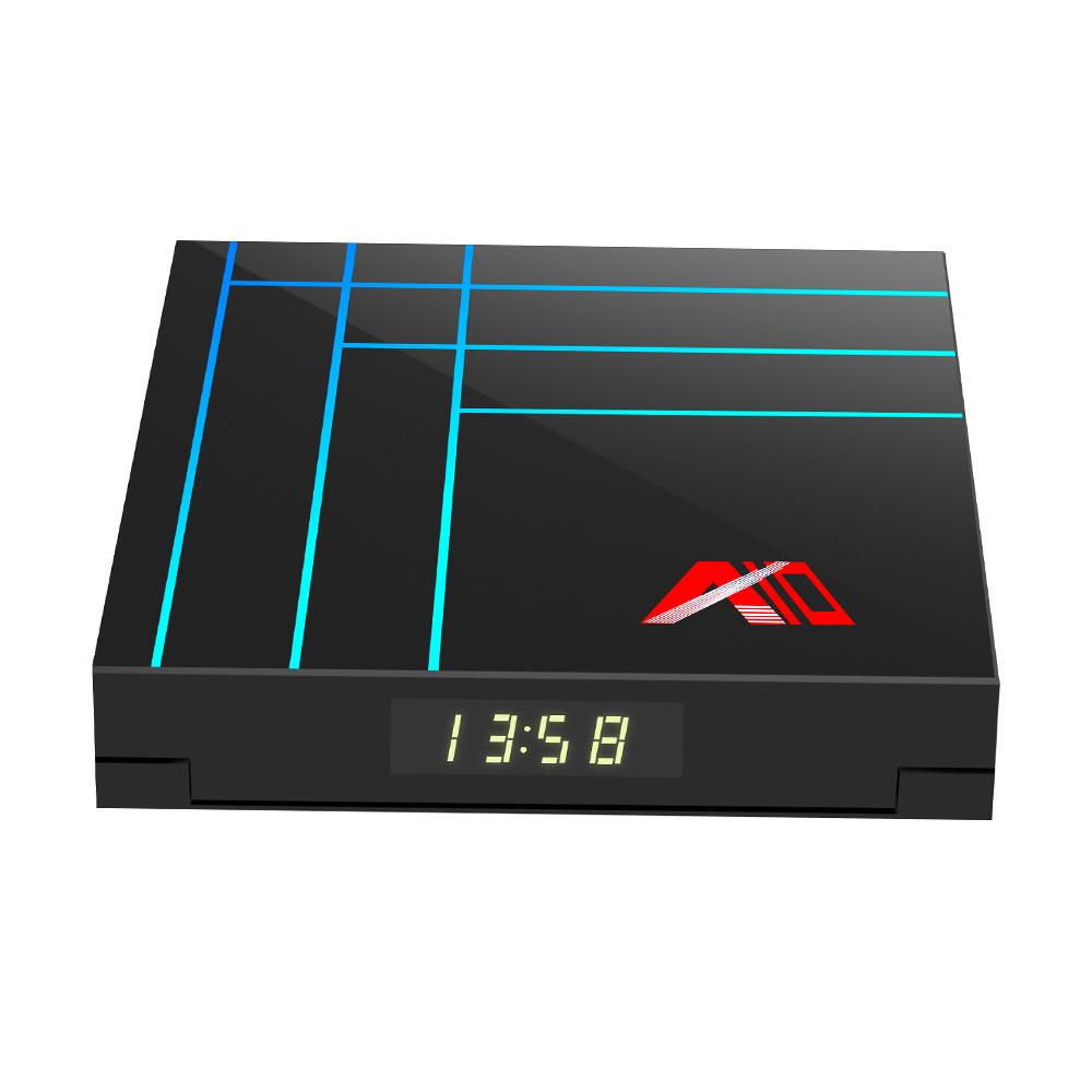A10 Smart Android 9.0 TV Box RK3318 Четырехъядерный процессор 64 бит 4 ГБ / 64 ГБ UHD 4K VP9 H.265 / H.264