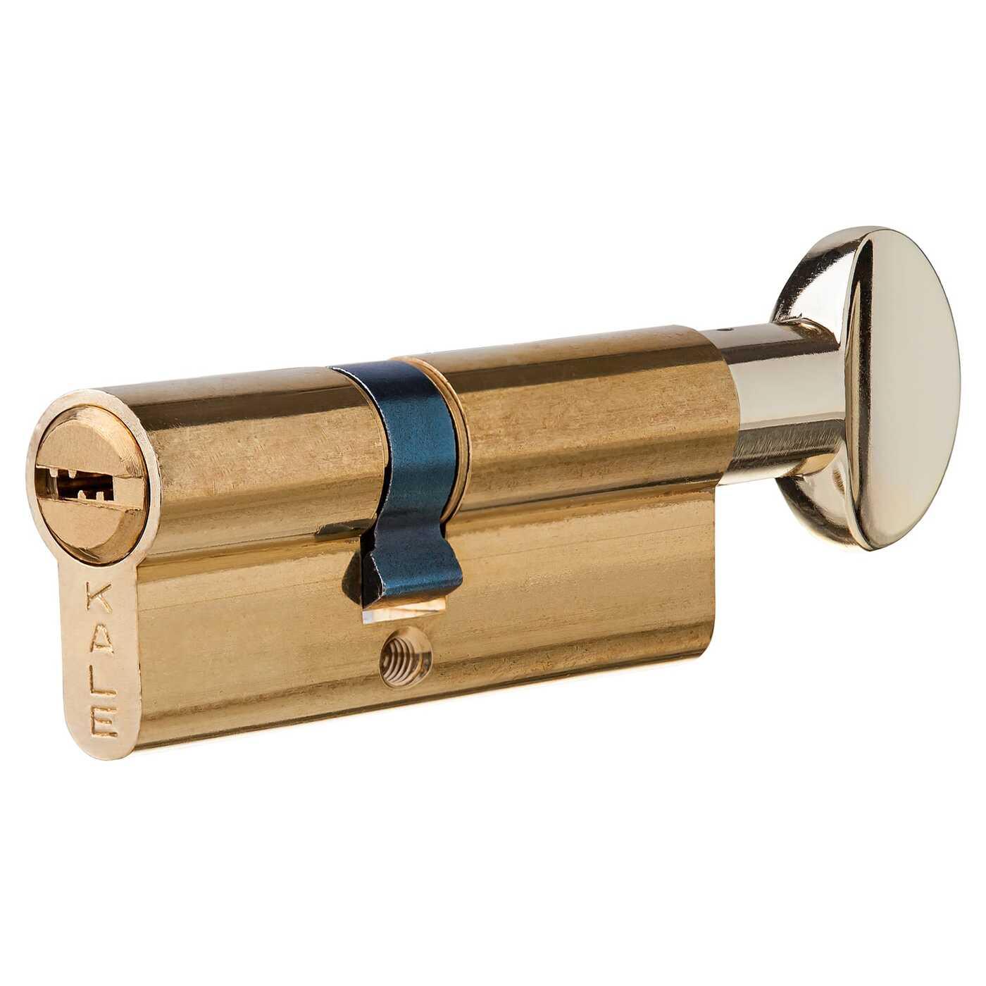 Цилиндр 164BM-80-C-BP, 30х40 мм, ключ/вертушка, цвет золото