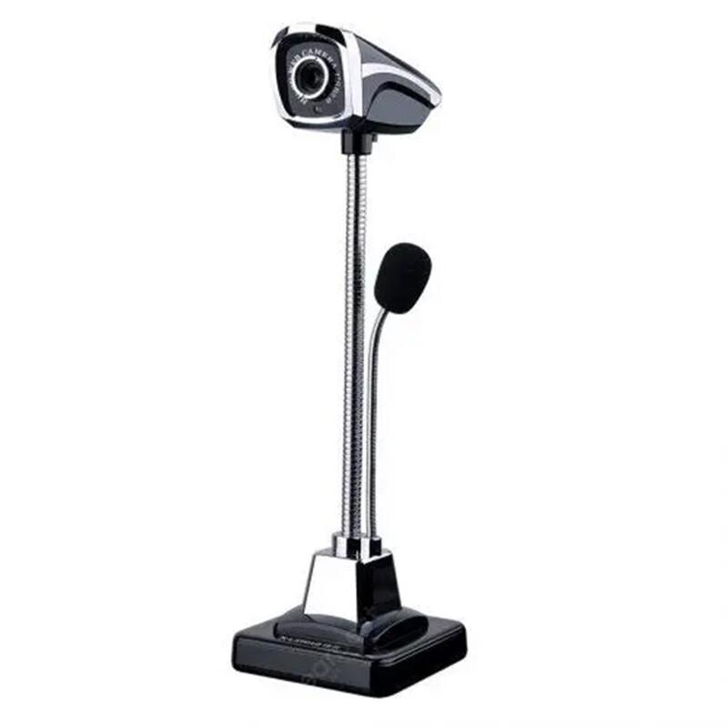 Проводная веб-камера ночного видения с регулируемым углом USB 2.0 для портативных ПК - черный