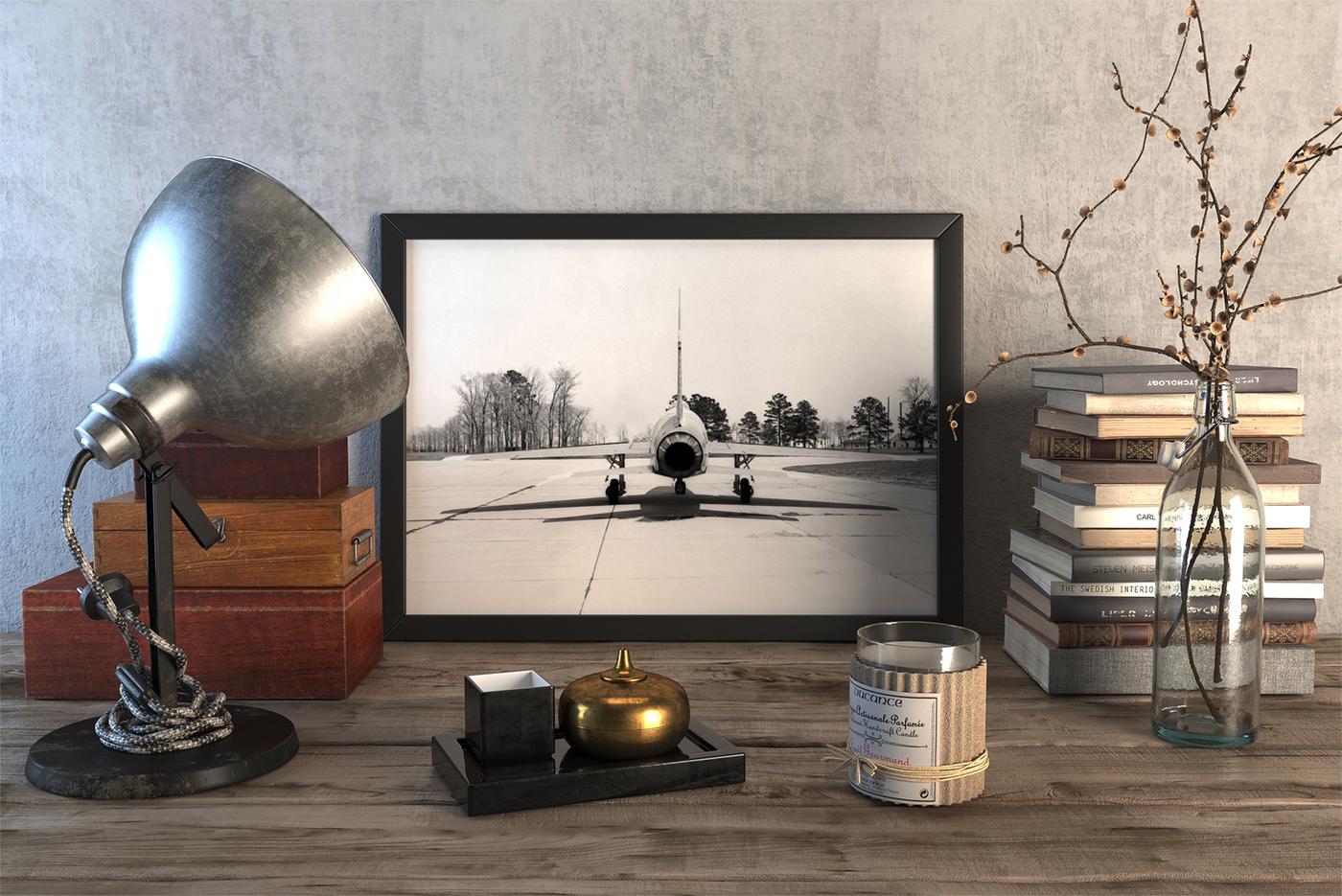 """Плакат """"Просто Постер"""" Истребитель F-100 C 40х50 см в раме"""