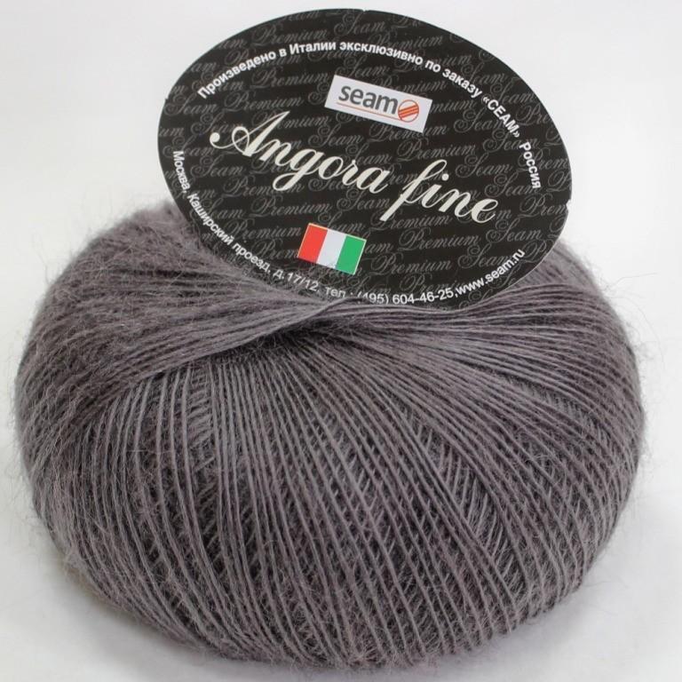 Пряжа Seam Angora fine (Ангора фине) 183905 темно-серый 50% мохер, 50% нейлон 50г 300м 5шт