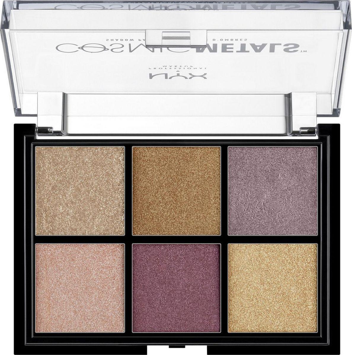 NYX Professional Makeup Сosmic metals shadow palette Палетка теней, оттенок 01, 8 г  #1